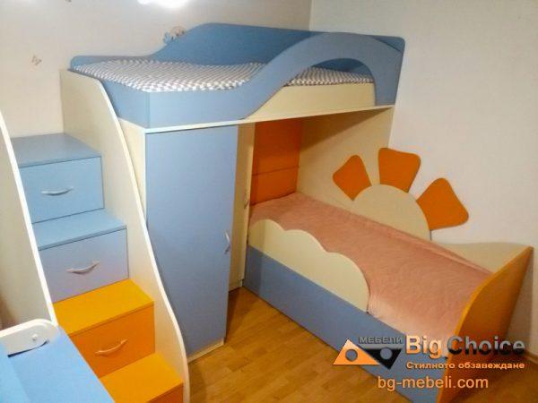 Двуетажно легло D-001CV