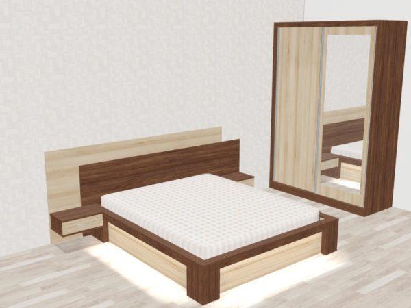 Спалня и гардероб с плъзгащи врати Наталия