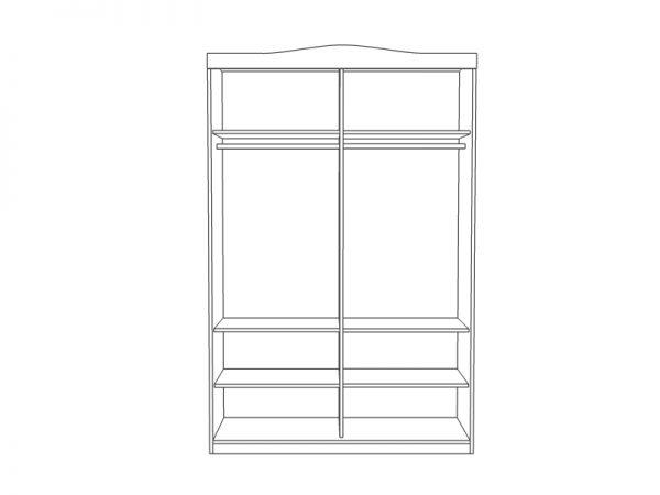 Вътрешно разпределение на гардероб Наоми