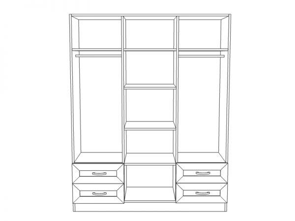 Вътрешно разпределение на гардероб Веселина
