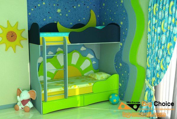 Двуетажно легло Ден и Нощ D-0036