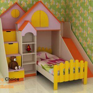 Детско обзавеждане Къщичка с пързалка D-0048